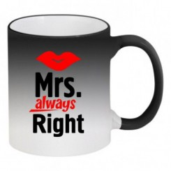 Кружка-хамелеон Mrs. Right - Moda Print