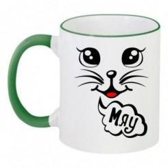 Чашка двухцветная Мяу - Moda Print