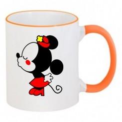 Чашка двокольорова мишка