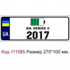 Номер на дитячу коляску табличка з ім'ям На Землі з 2017 - Moda Print