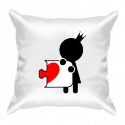 Подушка пазлик с сердечком ж - Moda Print