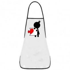 Фартук пазлик с сердечком ж - Moda Print