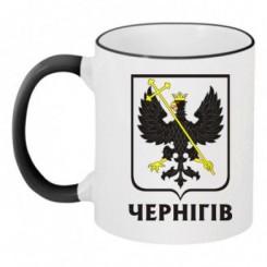 Чашка двокольорова з Гербом Чернігова - Moda Print