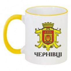 Чашка двокольорова з Гербом Чернівців - Moda Print