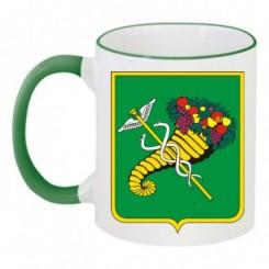 Чашка двухцветная с Гербом Харькова - Moda Print