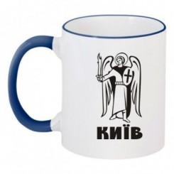 Чашка двухцветная с Гербом Киева - Moda Print