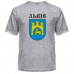 Мужская футболка с Гербом Львова - Moda Print