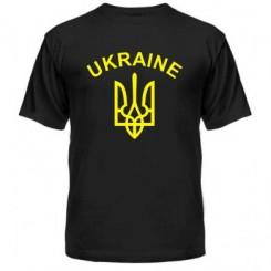 Футболка чоловіча з Гербом України і написом - Moda Print