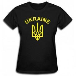 Футболка жіноча з Гербом України і написом - Moda Print
