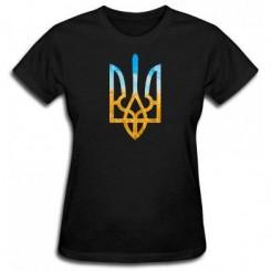 Женская футболка с Гербом Украины - Moda Print