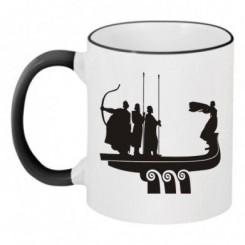 Чашка двокольорова з малюнком Київ - Moda Print