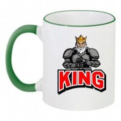 Чашка двухцветная с рисунком King