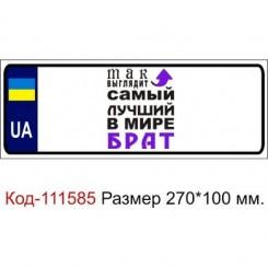Номер на дитячу коляску табличка з ім'ям з малюнком Так виглядає кращий брат - Moda Print