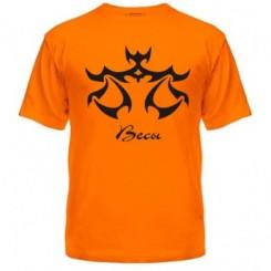 Мужская футболка с рисунком знак Весы - Moda Print