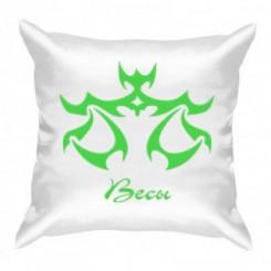 Подушка с рисунком знак Весы - Moda Print