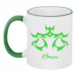 Чашка двухцветная с рисунком знак Весы - Moda Print