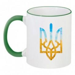 Чашка двухцветная с символикой Украины - Moda Print