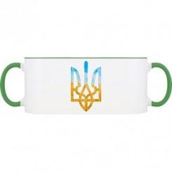 Кружка двухцветная с символикой Украины - Moda Print