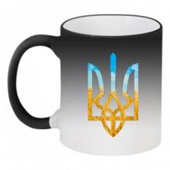 Кружка-хамелеон с символикой Украины - Moda Print
