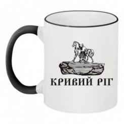 Чашка двокольорова з символом Кривого Рогу - Moda Print