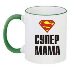 Чашка двухцветная SUPER МАМА - Moda Print