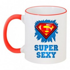 Чашка двухцветная SUPER SEXY - Moda Print