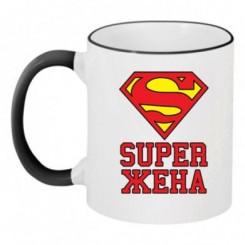 Чашка двокольорова Супер дружина - Moda Print