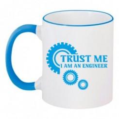 Чашка двокольорова Trust me (engineer) - Moda Print