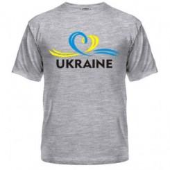 Мужская футболка UKRAINE (Сердечко с ленточкой) - Moda Print