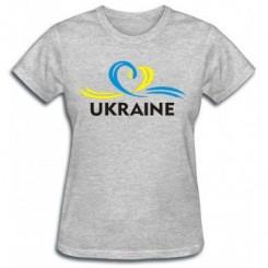 Футболка женская UKRAINE (Сердечко с ленточкой) - Moda Print