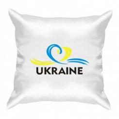 Подушка UKRAINE (Сердечко с ленточкой) - Moda Print
