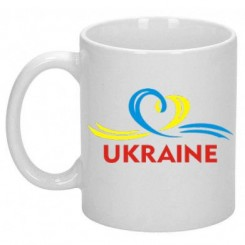 Чашка UKRAINE (Сердечко з стрічкою) - Moda Print