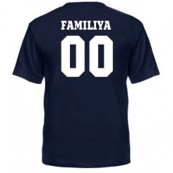 Мужская футболка Ваша фамилия и номер - Moda Print