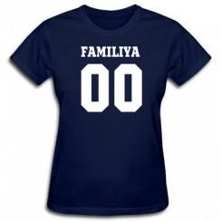 Футболка женская Ваша фамилия и номер - Moda Print