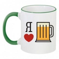 Чашка двухцветная Я обожаю пиво - Moda Print