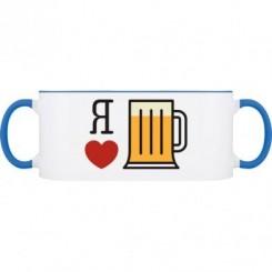 Кружка двухцветная Я обожаю пиво - Moda Print